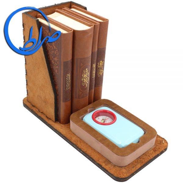 مجموعه ۴ جلدی مفاتیح الملکوت به همراه قبله نما