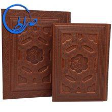 قرآن نفیس چرمی معطر جعبه دار جلد برجسته