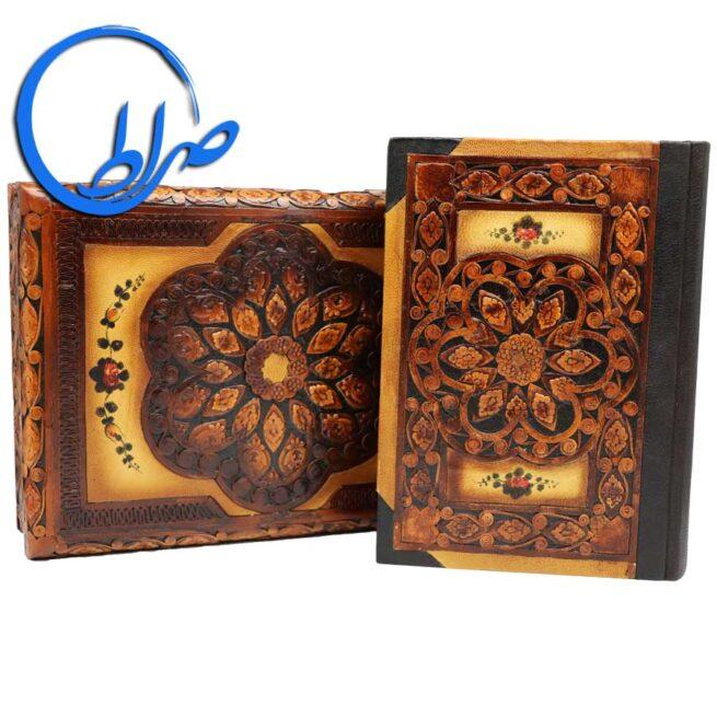 دیوان حافظ نفیس جعبه دار چرم طبیعی
